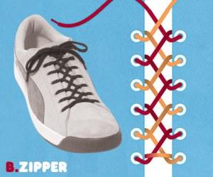 Cara Tali Sepatu Zipper - Resleting