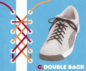 Cara Mengikat Tali Sepatu Bergaya Double Back