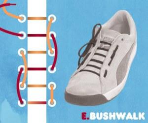 Cara Tali Sepatu - Cara Mengikat Tali Sepatu Bergaya BushWalk