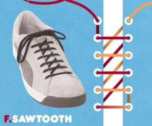 Cara Tali Sepatu - Cara Mengikat Tali Sepatu Bergaya SawTooth