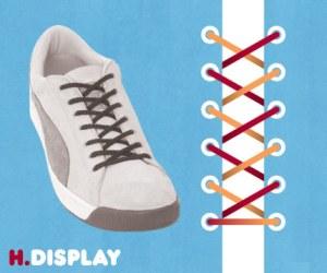 Cara Tali Sepatu - Cara Mengikat Tali Sepatu Bergaya Display (Tanpa Ikatan)