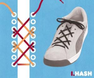Cara Tali Sepatu - Cara Mengikat Tali Sepatu Bergaya Hash