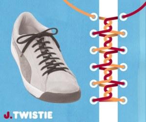 Cara Tali Sepatu - Cara Mengikat Tali Sepatu Bergaya Twistie (Kepang-Pelintir)