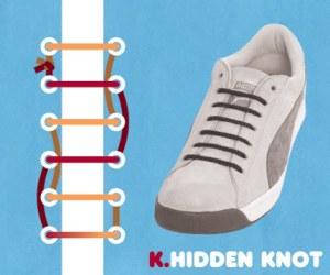 Cara Tali Sepatu - Cara Mengikat Tali Sepatu Bergaya Hidden Knot (Tanpa Ikatan)
