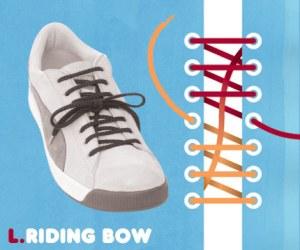 Cara Tali Sepatu - Cara Mengikat Tali Sepatu Bergaya Riding Bow