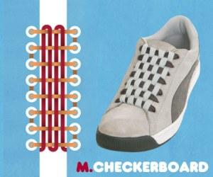 Cara Tali Sepatu - Cara Mengikat Tali Sepatu Bergaya Checker Board (Papan Catur)