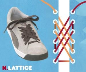 Cara Tali Sepatu - Cara Mengikat Tali Sepatu Bergaya Lattice