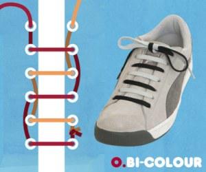 Cara Tali Sepatu - Cara Mengikat Tali Sepatu Bergaya Bi-Colour